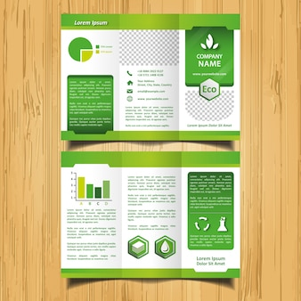 Brochure green eco trifold