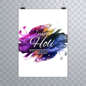 Brochure holi colorée