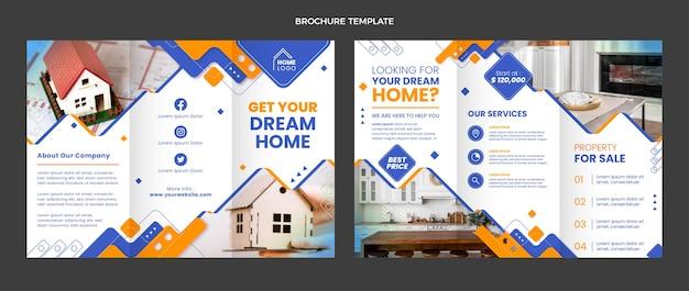 Brochure immobilière géométrique design plat