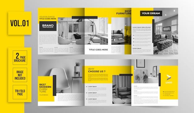 Brochure immobilière à trois volets
