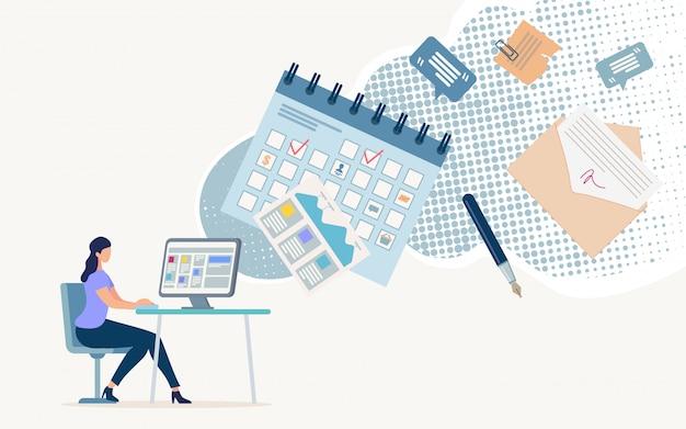 Brochure informative sur la gestion de documents en ligne.