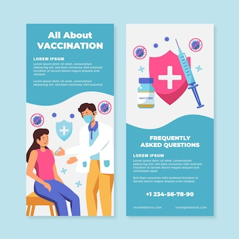 Brochure informative sur la vaccination contre le coronavirus plat