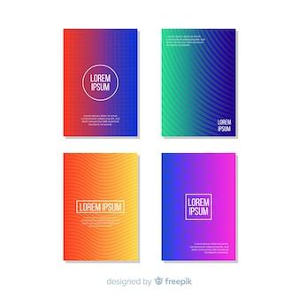 Brochure de lignes géométriques colorées