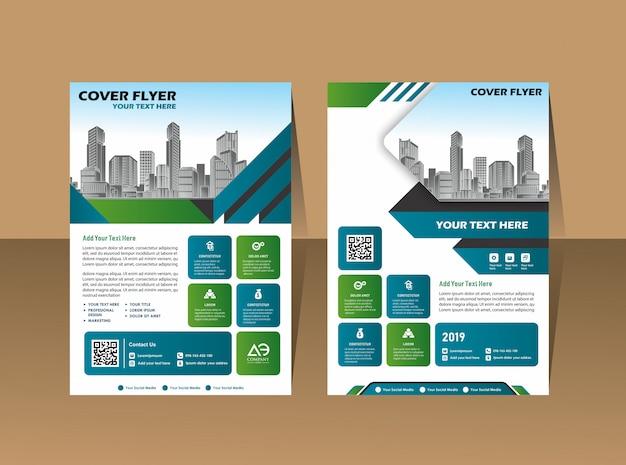 Brochure de livre de couverture de conception