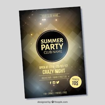 Brochure luxueuse élégante pour les fêtes d'été