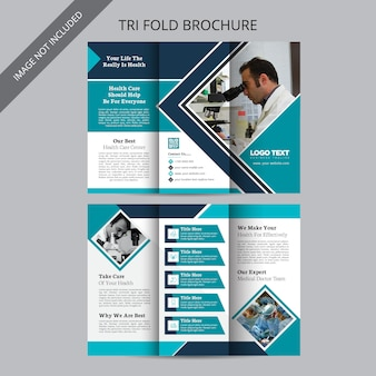 Brochure médicale tri fold