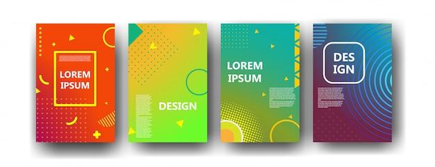 Brochure de memphis abstrait géométrique