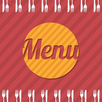 Brochure de menu au cours de l'illustration vectorielle fond rouge