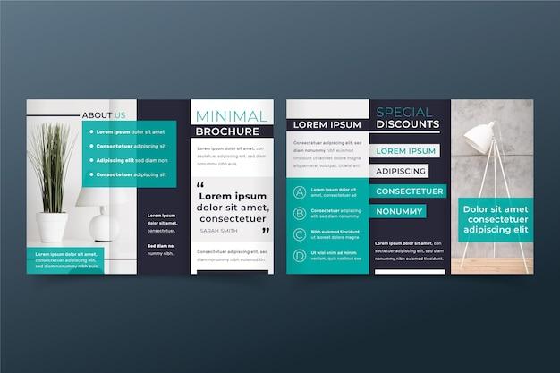 Brochure minimale à trois volets
