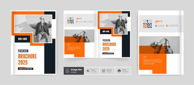 Brochure de mode moderne design modèle de couverture portefeuille rapport annuel page de couverture thème créatif