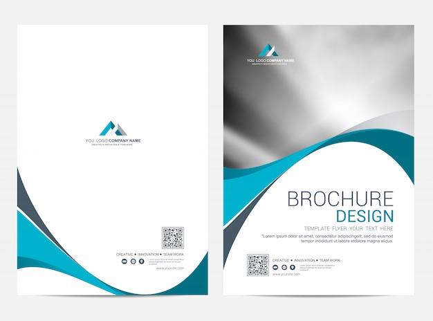 Brochure modèle flyer design fond de vecteur