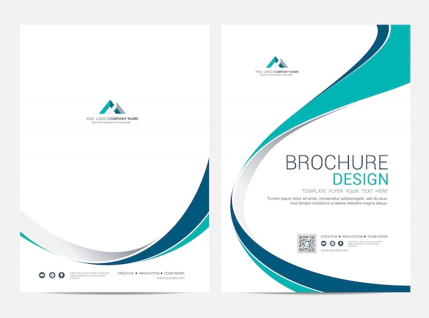 Brochure modèle flyer design fond de vecteur