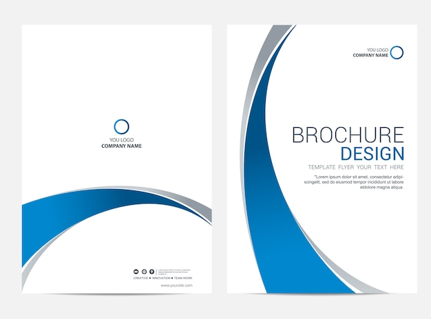 Brochure modèle flyer design vecteur de fond