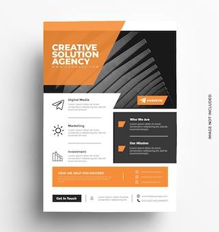 Brochure de modèle de flyer d'entreprise avec photo