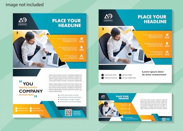 Brochure modèle de médias sociaux et modèle de bannière