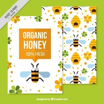 Brochure modèle de miel biologique