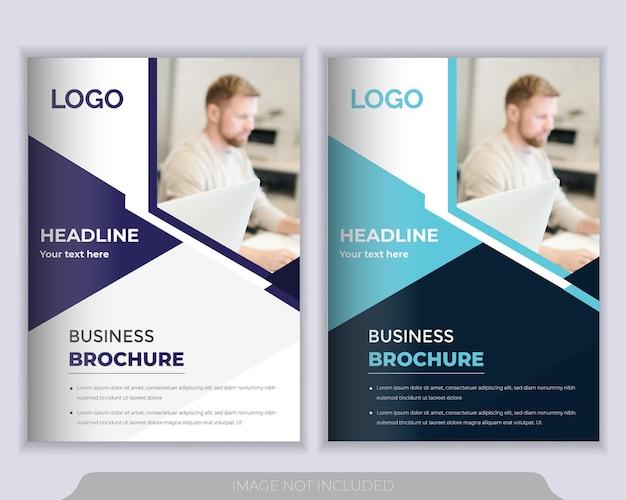 Brochure ou modèle de mise en page flyer. rapport annuel, modèle de présentation de couverture de livre