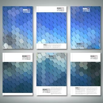 Brochure ou modèles de flyer avec hexagone abstrait