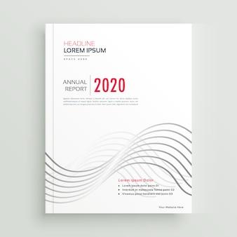 Brochure moderne de style minimal propre ou conception de page de couverture