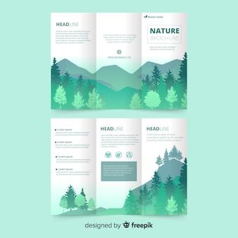 Brochure nature à trois volets