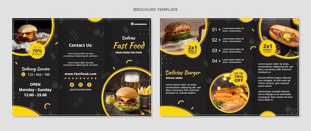 Brochure de nourriture de style plat