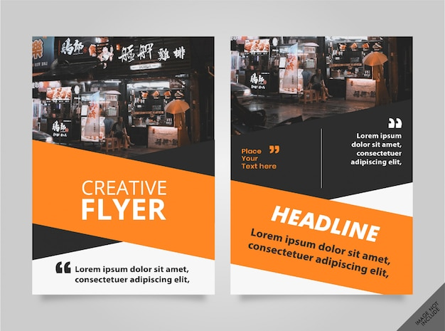 Brochure orange noir