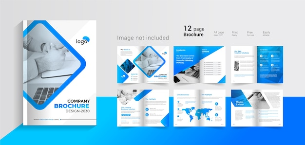 Brochure sur les pages de couverture du profil de l'entreprise