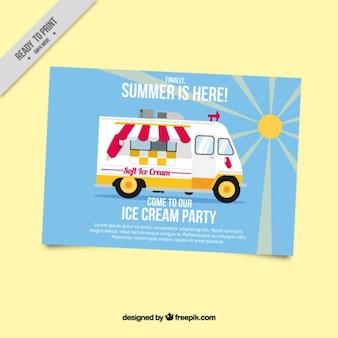 Brochure de la partie de crème glacée