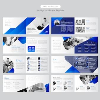 Brochure de paysage d'entreprise