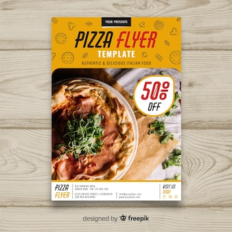 Brochure de pizza photographique