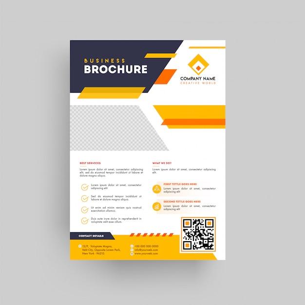 Brochure de présentation commerciale de style géométrique