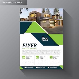 Brochure de présentation du dépliant de l'affiche du rapport annuel