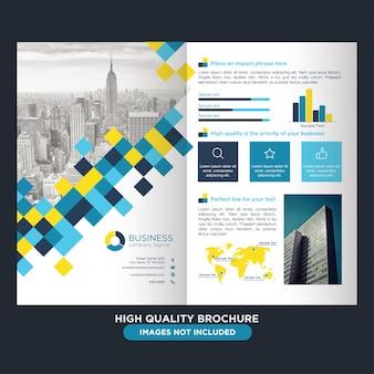 Brochure professionnelle abstraite pour les entreprises