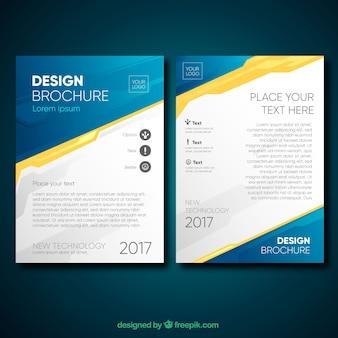 Brochure professionnelle avec style original