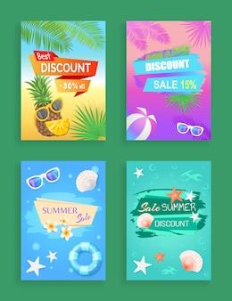 Brochure de promotion de la vente estivale, exemple