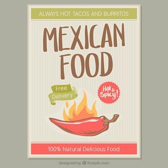 Brochure restaurant mexicain