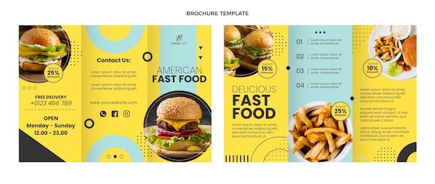 Brochure de restauration rapide à plat