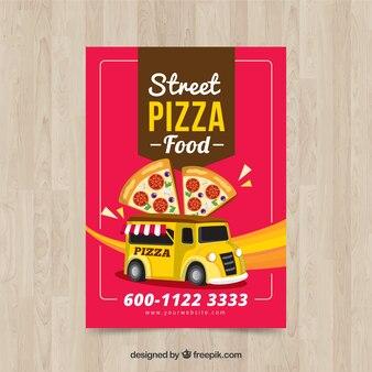 Brochure retro pizza