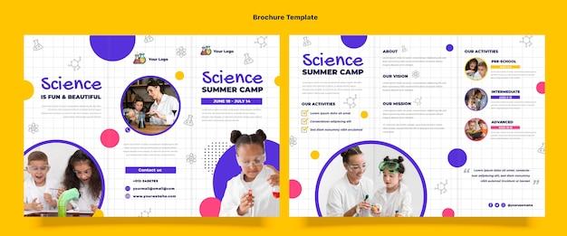 Brochure scientifique du design plat