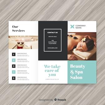 Brochure spa à trois volets