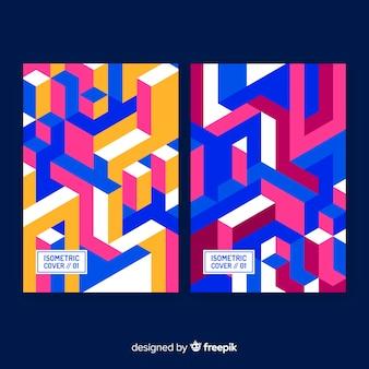 Brochure de style isométrique