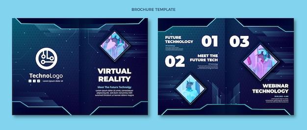 Brochure Sur La Technologie Des Textures Dégradées Vecteur gratuit
