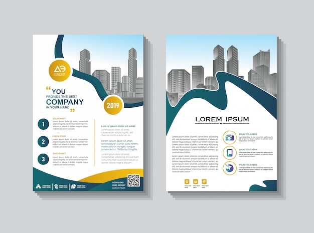 Brochure template layout cover rapport annuel de conception de la couverture