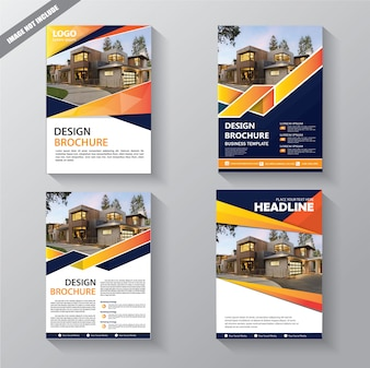 Brochure template layout cover rapport annuel