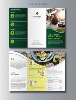 Brochure tri-fold nutrition naturelle