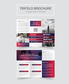 Brochure tri-fold de la société