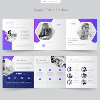 Brochure trifold square professionnelle
