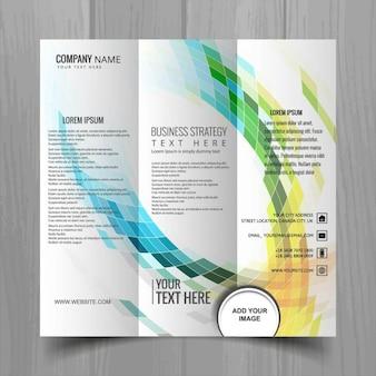 Brochure triptyque colorful