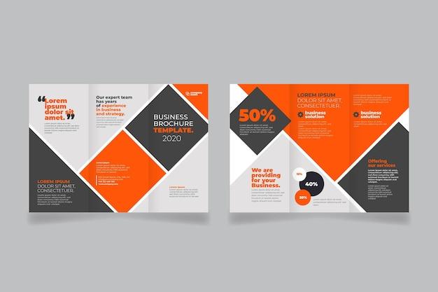 Brochure à trois volets abstraite à l'avant et à l'arrière