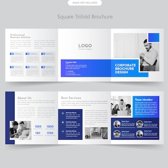 Brochure à trois volets carrés